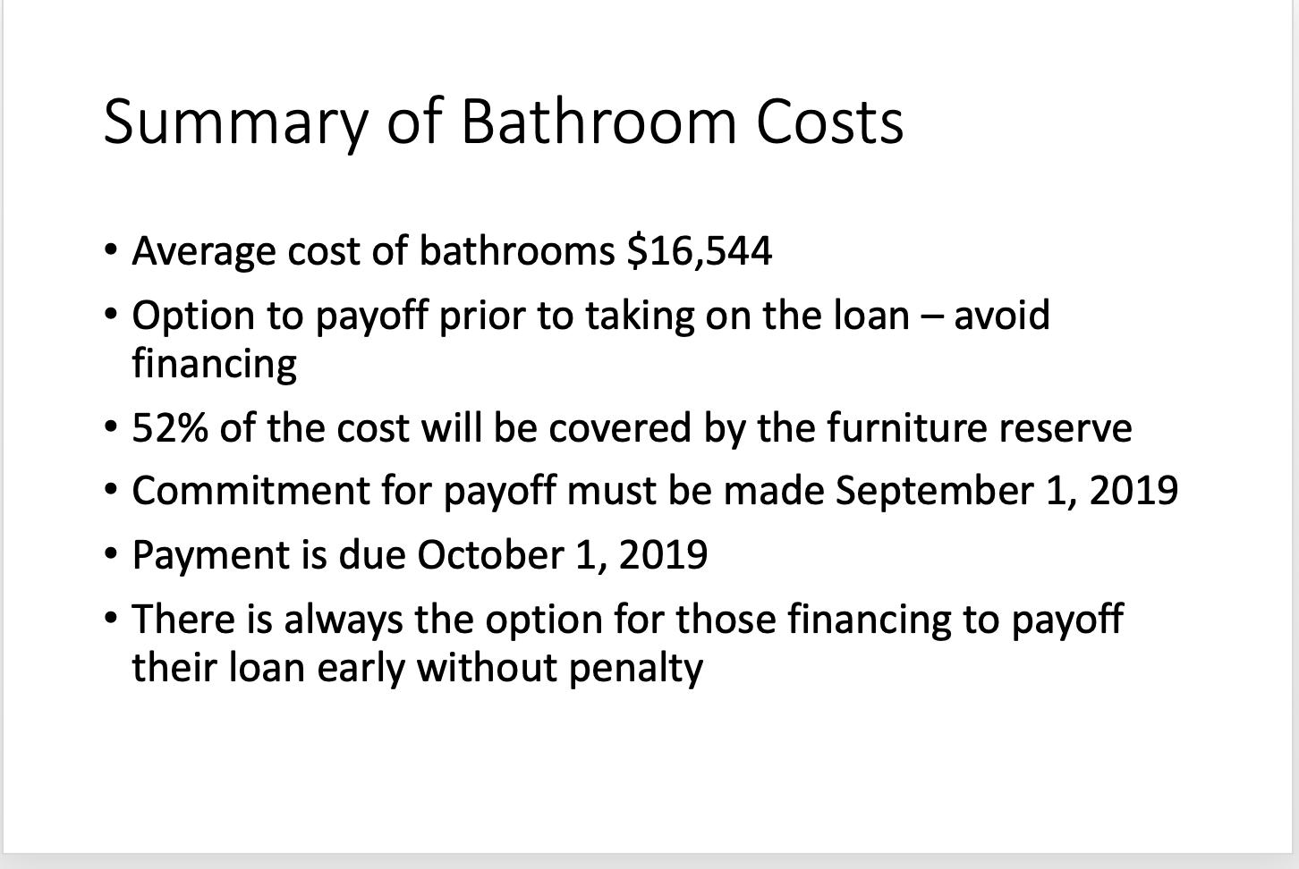Summary of Bathroom Costs 17