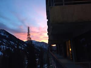 Sunset at The Lodge at Snowbird