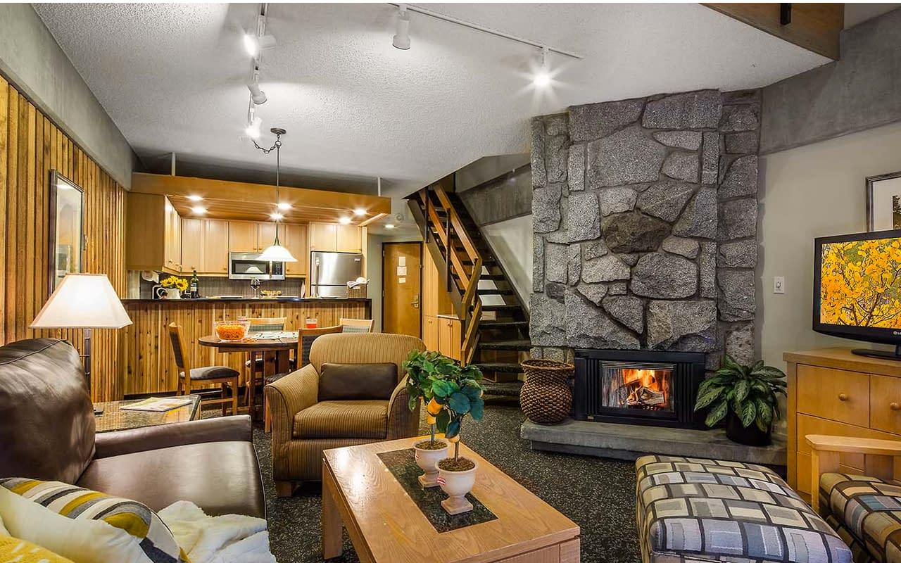 Fireplace Kitchen Lodge at Snowbird