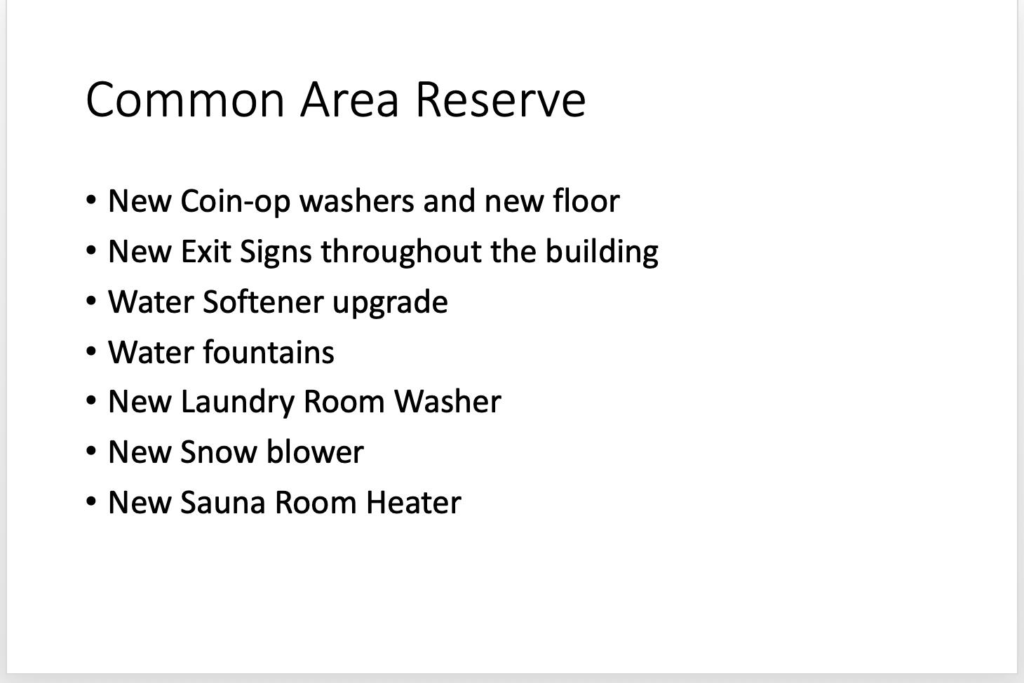 Common Area Reserve 10